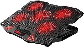 """Laptop kylplatta laptop kylplatta 12""""-17,3"""" 2 USB-portar Gaming Laptop Cooler Pad med LED-lampor 5 fläktar 2400 rpm"""
