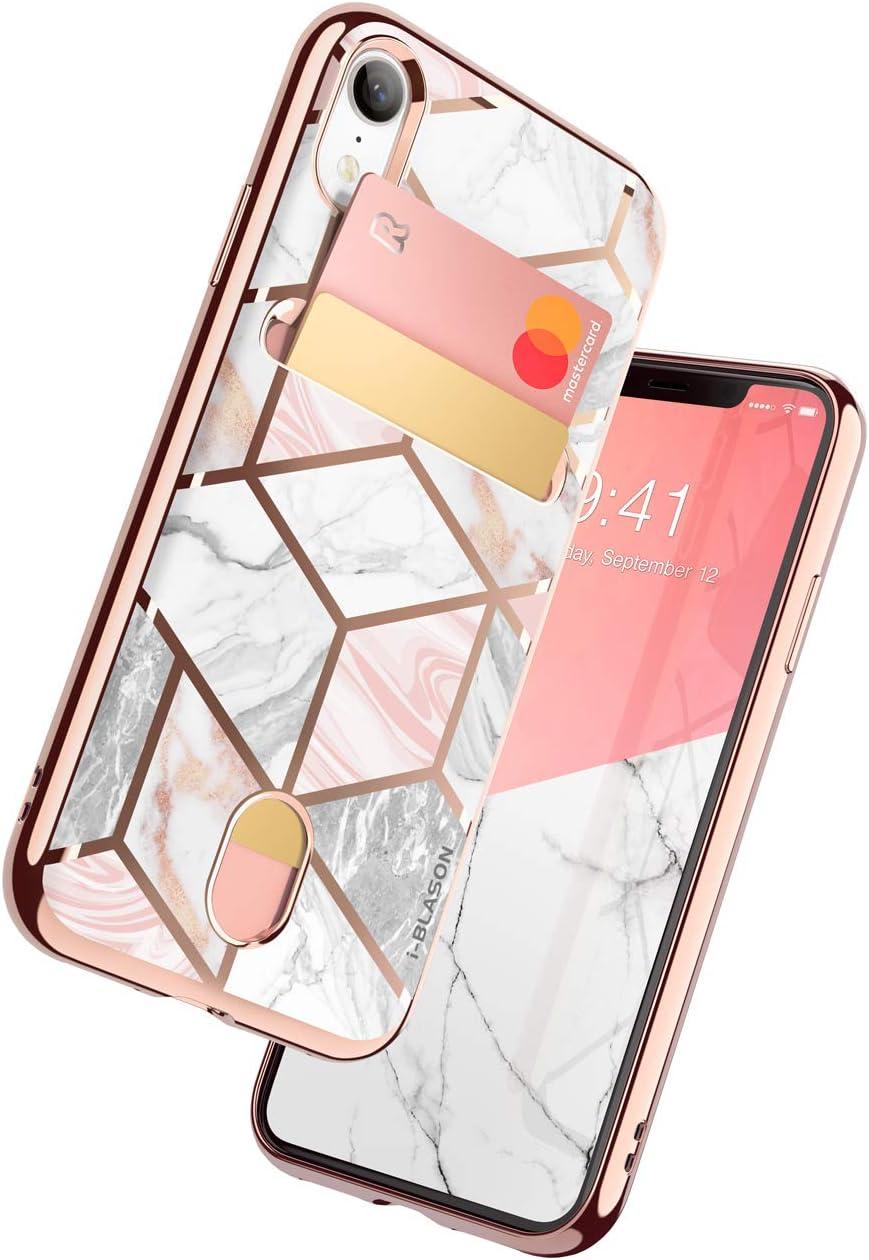 i-Blason Cosmo Wallet Slim Designer Wallet Case for Apple iPhone XR (Marble)