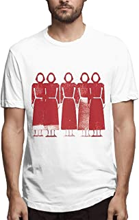 Qmad Womens The Tale About Handmaid Crop Top T-Shirts Popular Short Style Design Exercise Tranning Short Sleeve Soft Tee Top Black
