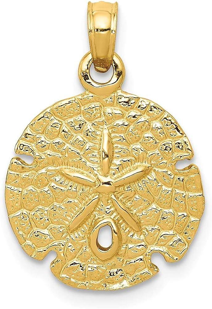 14K Yellow Gold Sand Dollar Pendant
