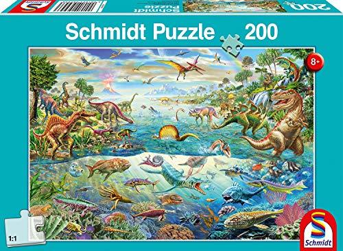 Schmidt Spiele 56253 Entdecke die Dinosaurier, 200 Teile Kinderpuzzle