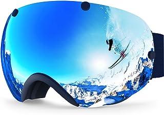 0b74d1a2b3 Zionor XA Ski Snowboard Snow Goggles for Men Women Anti-Fog UV Protection  Spherical Dual