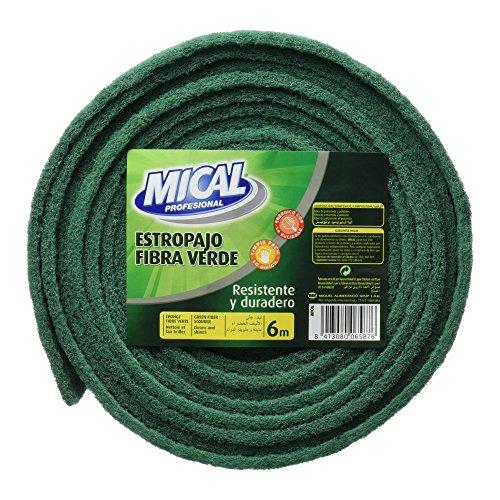 Mical - Rollo Estropajo Fibra Verde, 6 m