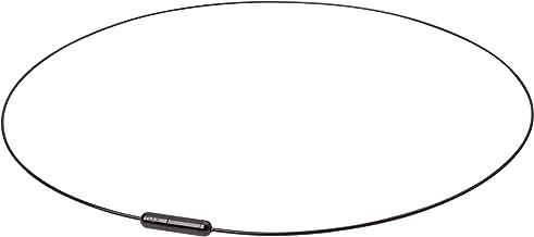 phiten التيتانيوم سلك Air قلادة ، أسود ، 50.8cm