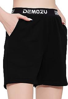 "DEMOZU Women's 5""/10"" Workout Lounge Shorts Active Bermuda Yoga Running Shorts"