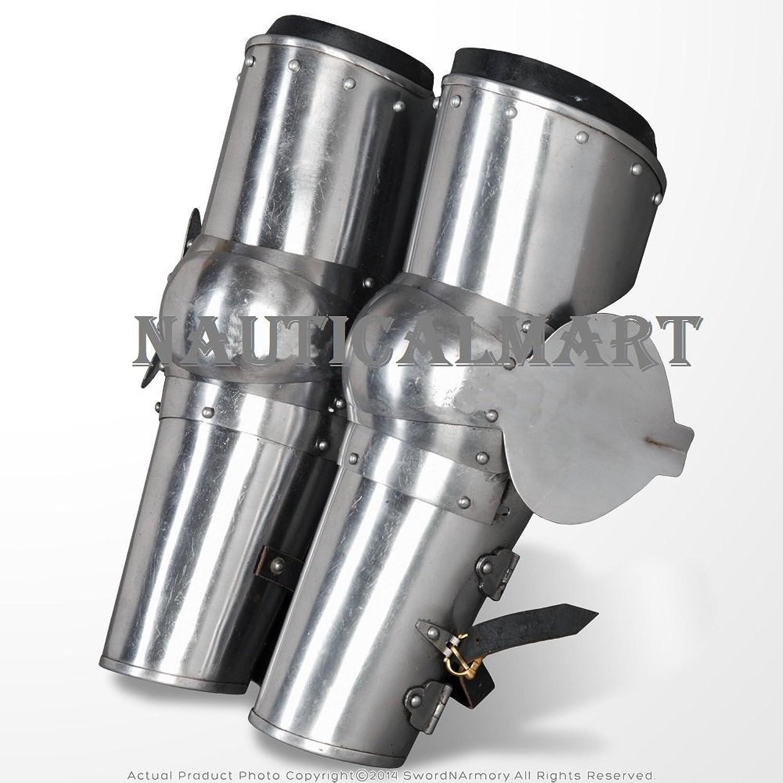 Medieval Arms Plate Armor Leaf Elbow Predector Type B 18 Gauge Steel SCA WMA by Nauticalmart