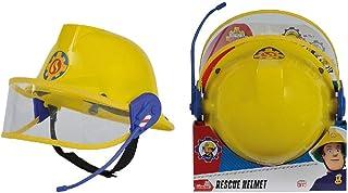 Simba Fireman Sam Plastic Helmet with Microphone, Yellow