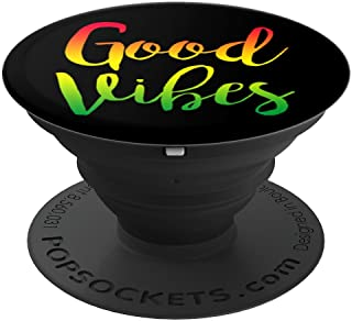 Good Vibes Rasta Reggae - Roots Accessories Flag - PopSockets Grip and Stand for Phones and Tablets
