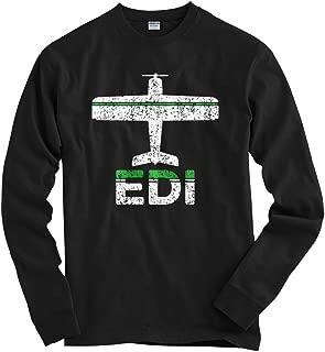 Men's Fly Edinburgh EDI Airport Long Sleeve T-Shirt