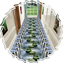 YANZHEN Hallway Runner Rugs Corridor Carpet Aisle Soft Non-Slip Wear-Resistant, Thickness 6mm, 0.6 M / 0.8 M / 0.9 M / 1 M...