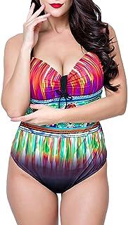 comprar comparacion PengGengA Mujer Triangular Bikini Tallas Grandes Bañadores Slim Monokini Traje De Baño