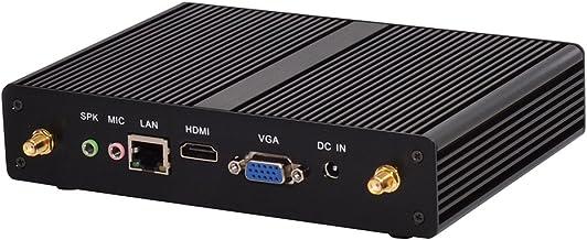 Fanless Mini PC,Desktop Computer,with Windows 10 Pro/Linux Ubuntu Support,Intel Core I3 4020Y,(Black),[HUNSN BM05],[VGA/HDMI/LAN/4USB3.0/2USB2.0/WiFi],(4G RAM/128G SSD)