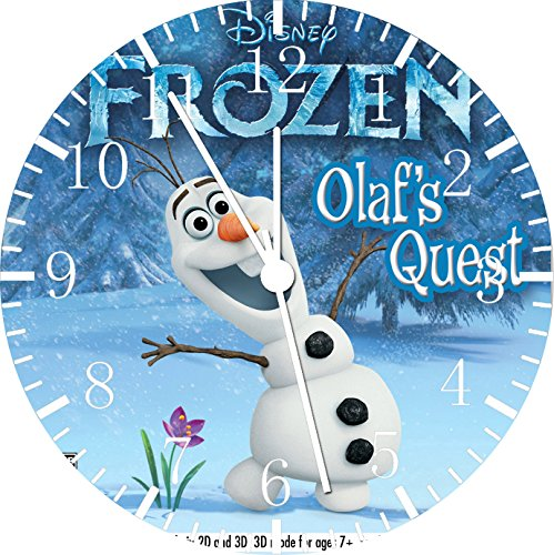 Disney Frozen Olaf 25.40 Wanduhr Wohnzimmer und wird cm Wanddekoration W472 Geschenk