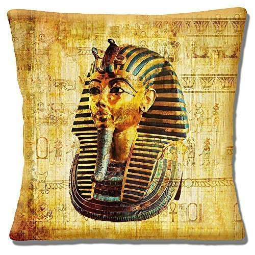 Ägyptisch Tutanchamun Maske Ancient Symbole Mehrfarbig - 40.6cm (40cm) Kissenbezug