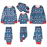 Alueeu Pijamas Navidad para Familias Moon Set Mamá Papá Niños Bebé Chándal Homewear Pijamas Navidenos Familiares riou