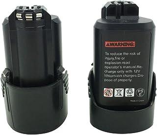 Kinon Reemplazo Herramienta Eléctrica Batería 2-Piezas 10.8V 1.5Ah Li-Ion Para Bosch Taladro Inalámbrico Destornillador 2 607 336 013 BAT411 GDR 10.8-LI GMF 10.8 V-LI GSR 10.8V -LI2 GUS 10.8V-LI