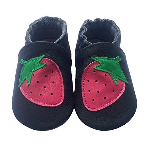 LSERVER Baby Boys Girls Toddlers 0-2Yrs Months Soft Sole Leather Infant Shoes Crib Shoes