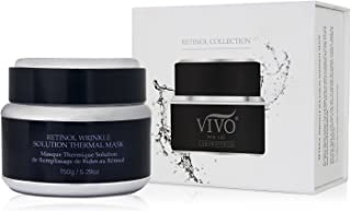 Retinol Mask for Face and Neck - Self Heating Face Mask for Wrinkles from Vivo Per Lei - Anti Aging Facial Mask with Arnica Montana, Kaolin & Aloe Vera - Retinol Treatment to Bring the Spa Home