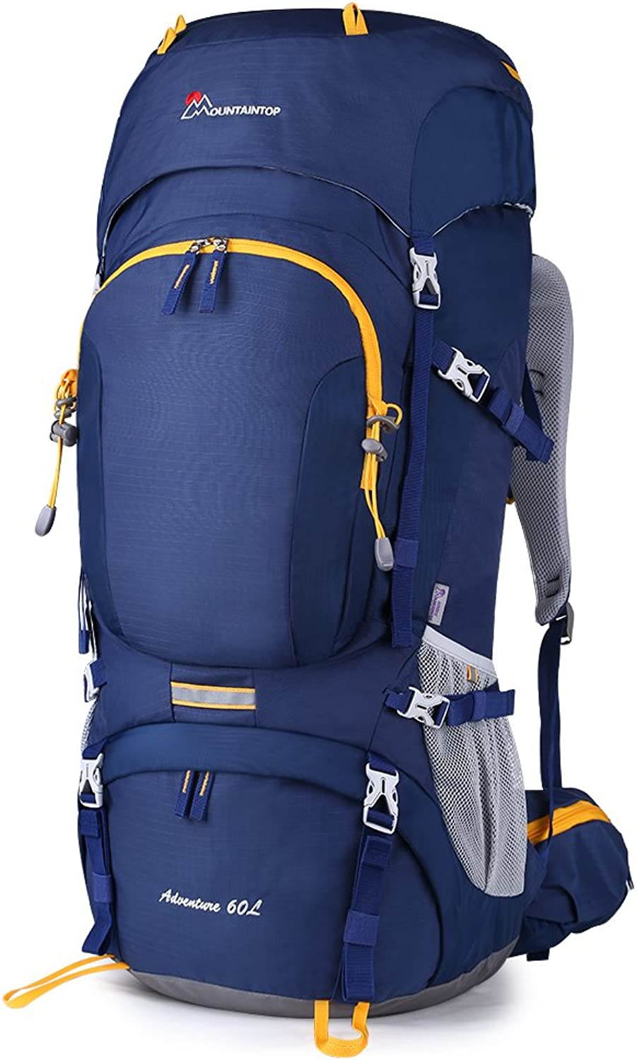 Mountaintop 60L Internal Frame Backpack Hiking Backpacking Packs with Rain Cover YKK zipper buckleM6012