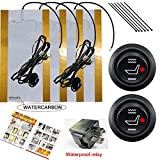 WATERCARBON Water Carbon 12V Premium Heated Seat Kits for Two Seats Universal,...