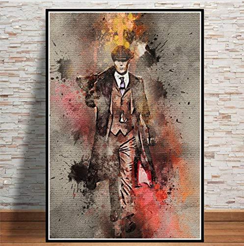 REDWPQ Arte Pintura Personaje TV Show Pop Movie Actor Poster e Impresiones Cuadros de Pared para Sala de Estar decoración del hogar 42x60 cm sin Marco