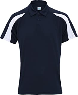 AWDis Just Cool Mens Short Sleeve Contrast Panel Polo Shirt