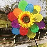 Cold Toy 4pc Girasol Molino de viento viento Spinner Rainbow whirli Gig Cilindro de decoración de hogar Hofmeister