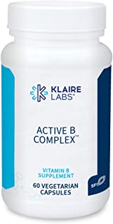 Klaire Labs Active B Complex - Energy & Mood Support B Vitamin Supplement with Metafolin Folate, Methylcobalamin B12, Biot...