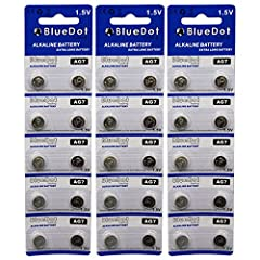 LONG LASTING: These are non rechargeable batteries COMMON USES: Low-power applications such as watches, calculators, blood pressure monitors, glucose meters, hearing aids and many other electronic products with low battery drain. QUANTITY: 30 AG7 Bat...