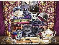 3000ピースジグソーパズルパズル大人のジグソーパズルゲーム子供家族減圧ゲーム-猫