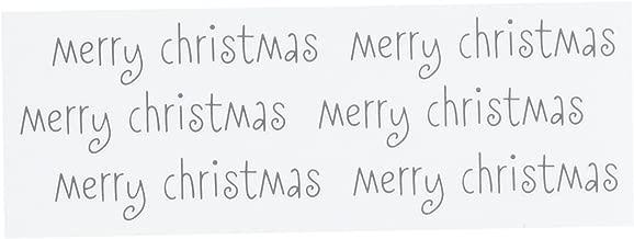 Pebbles Duplicates Merry Christmas Rub Ons, Black