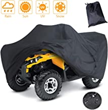 LotFancy All Weather Waterproof ATV Cover, Heavy Duty Black Quad Protects 4 Wheelers..