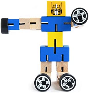 Robot  Bendable Wooden Robots  Gift Set Bundle