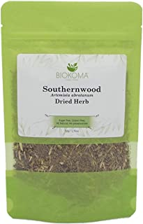 Sponsored Ad - 100% Pure and Organic Biokoma Southernwood (Artemisia abrotanum) Dried Herb 50g (1.76oz) in Resealable Mois...