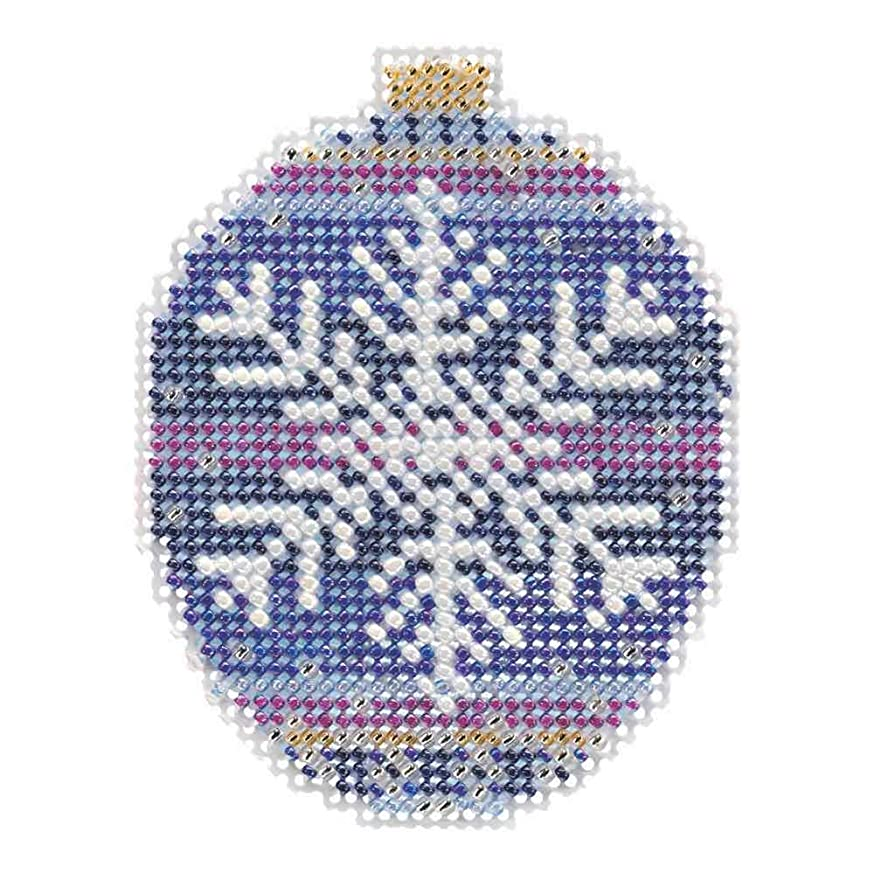 Royal Snowflake Beaded Counted Cross Stitch Ornament Kit Mill Hill 2018 Beaded Holiday MH211812