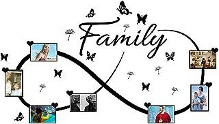2pcs Pegatinas Pared Marcos de Fotos Vinilos Frases Family Stickers Adhesivos Decorativos Habitación Dormitorio Salón Oficina