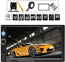 TDYJWELL 7 inch Double Din Touch Screen Car Stereo Upgrade The Latest Version MP5/4/3 Player FM Radio Video Support Backup Rear-View Camera Mirror Link
