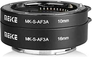 MEIKE MK-S-AF3A Metal Auto Focus Macro Extension Tube Adapter Ring (10mm+16mm )for Sony Mirrorless E-Mount FE-Mount A7 NEX Camera A7 A7M2 NEX3 NEX5 NEX6 NEX7 A5000 A5100 A6000 A6300 A6500