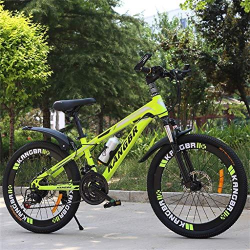 BOC Mountainbike Stoßdämpfer Fahrrad 20 Zoll 22 Zoll 24 Zoll 26 Zoll Scheibenbremse 21-Gang-Studentenauto Kinderfahrrad Mountainbike, B, 24 Zoll,B,20 Zoll