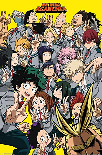 Trends International My Hero Academia-Selfie Wall Poster, 22.375' x 34', Unframed Version
