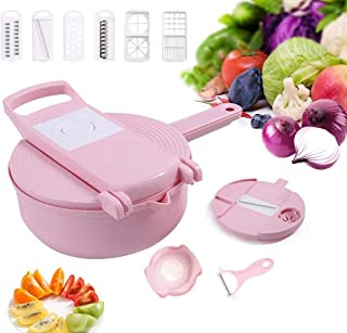 GJJSZ Mandoline de Cuisine Polyvalente pour Coupe-légumes,trancheuses de Cuisine râpes coupantes manuelles,ustensiles de C...