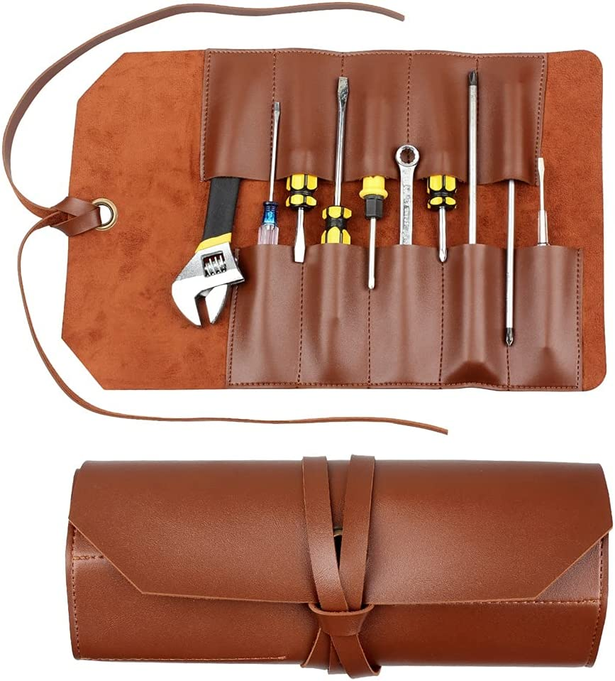 UXZDX CUJUX PVC Tool Roll Up Pouch Multi Pocket Multifunctional