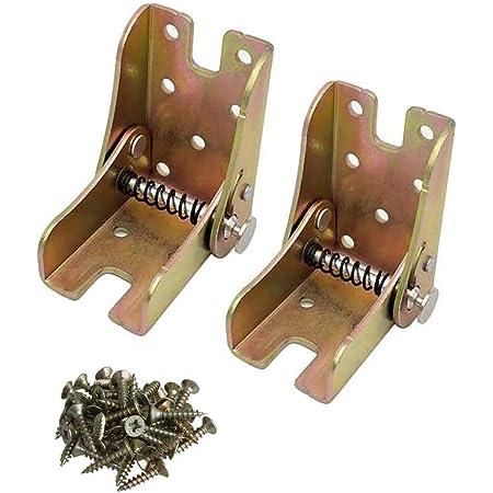 MING Pieds pliants en acier laminé à froid pieds de table pieds support de support pliable 2 pièces