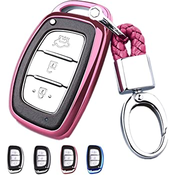 uxcell 5 Button Pink Car Silicone Remote Key Cover Case Fob Protector for Buick