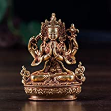 PPCP Nepalese Buddha Statue Meditation Peace and Harmony Statue Religious Decoration Pure Copper Four-Armed Guanyin Statue...