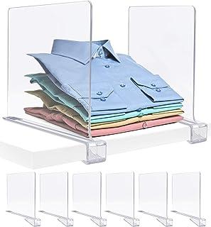Sorbus Acrylic Shelf Dividers for Shelves, Great Organizer for Clothes, Linens, Purse Separators, Versatile for Closets, K...