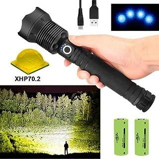 led Flashlight 90000 lumens Most Powerful 26650 USB Torch xhp70 xhp50 Hunting (P70 Flashlight)