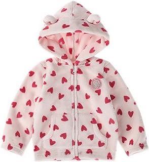 (トヨベイ)Toyobuy キッズ ジャケット ベビー パーカー 子供 秋冬 コート 赤ちゃん フード付き アウターウェア 女の子 男の子