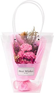 WRAPAHOLIC 10 Pack Transparent Gift Bag - Medium Transparent Gift Bag for Wedding, Birthday, Baby Shower, Party Favors, Flower Bouquet Wrapping - (9.4