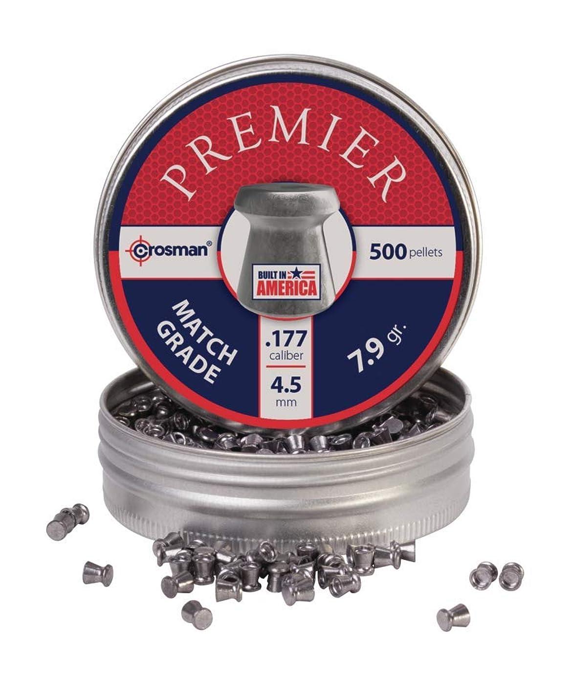 Crosman Premier Match 500 match grade pellets in a tin. LM77 wcstoxbjqiy517